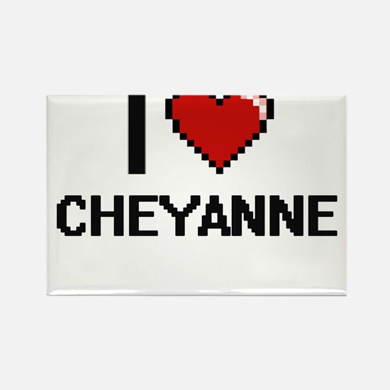 I Love Cheyanne Digital Retro Design Magnets