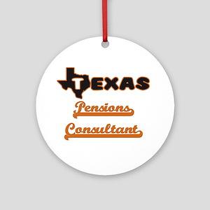 Texas Pensions Consultant Ornament (Round)