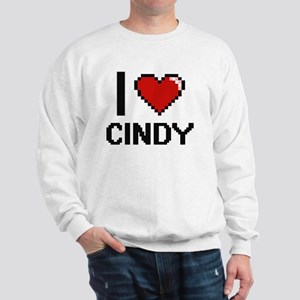 I Love Cindy Digital Retro Design Sweatshirt