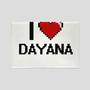 I Love Dayana Digital Retro Design Magnets
