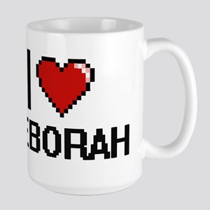 I Love Deborah Digital Retro Design Mugs