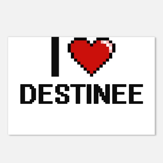 I Love Destinee Digital R Postcards (Package of 8)