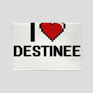 I Love Destinee Digital Retro Design Magnets