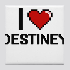 I Love Destiney Digital Retro Design Tile Coaster