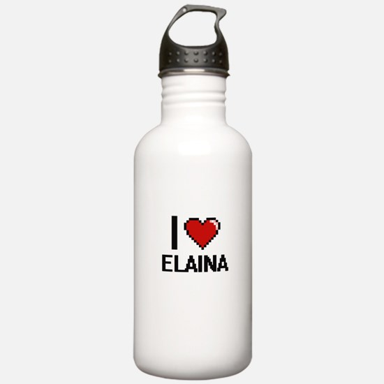 I Love Elaina Digital Water Bottle