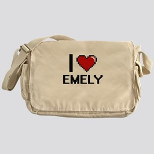 I Love Emely Digital Retro Design Messenger Bag