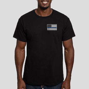 Men's Blue Line Fitted T-Shirt (dark)