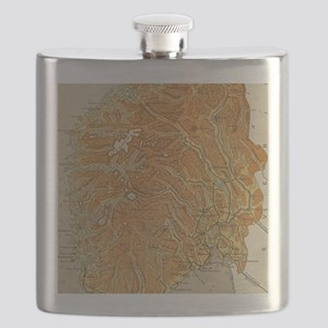 Vintage Map of Norway (1914) Flask