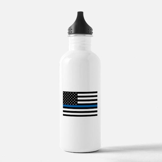 Blue Line Water Bottle