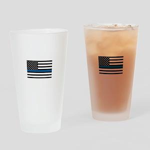Blue Line Drinking Glass