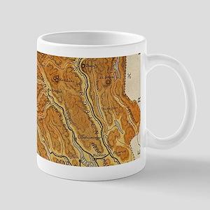 Vintage Map of Norway (1914) Mugs