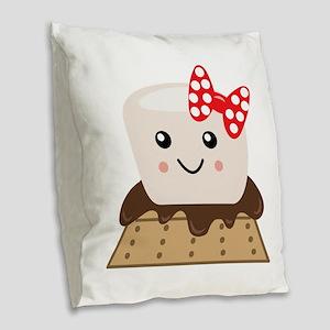 Smore Burlap Throw Pillow