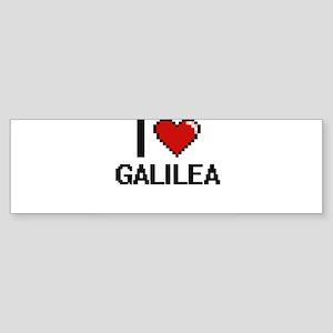 I Love Galilea Digital Retro Design Bumper Sticker
