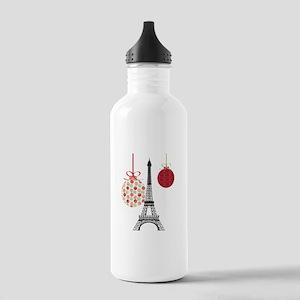Merry Christmas Eiffel Tower Ornaments Water Bottl