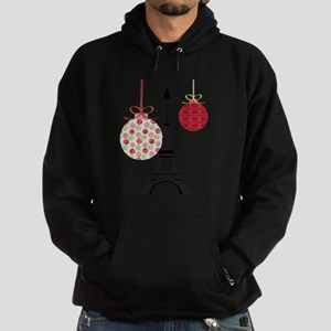 Merry Christmas Eiffel Tower Ornaments Hoodie