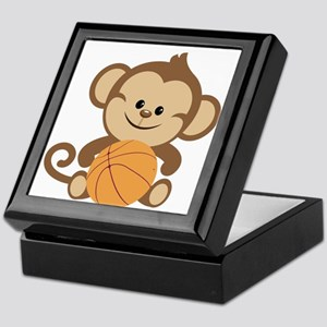 Basketball Monkey Keepsake Box
