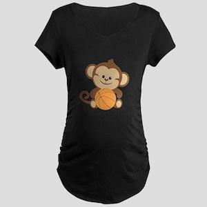 Basketball Monkey Maternity T-Shirt