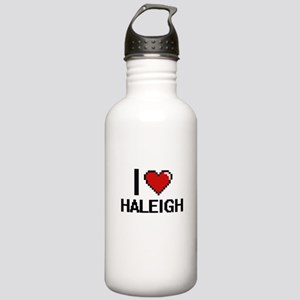I Love Haleigh Digital Stainless Water Bottle 1.0L