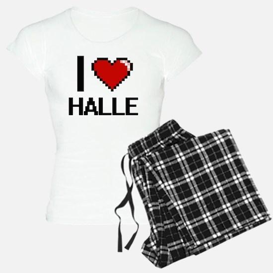 I Love Halle Digital Retro Pajamas