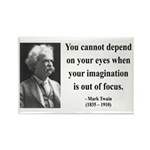 Mark Twain 13 Rectangle Magnet (10 pack)
