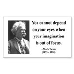 Mark Twain 13 Rectangle Sticker