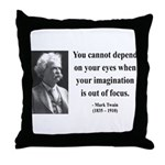 Mark Twain 13 Throw Pillow