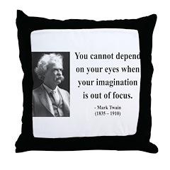 Mark Twain 13 Throw Pillow