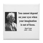 Mark Twain 13 Tile Coaster