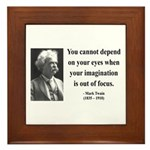 Mark Twain 13 Framed Tile