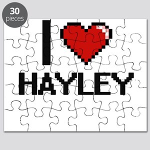 I Love Hayley Digital Retro Design Puzzle