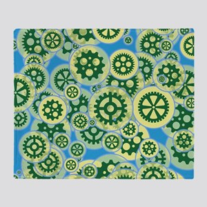 Gearwheels Throw Blanket