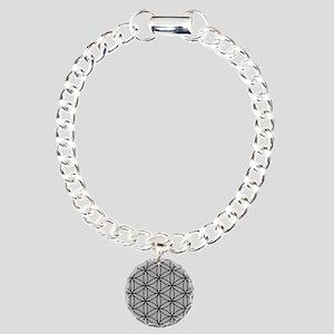 Flower of Life Big Ptn B/LG Charm Bracelet, One Ch