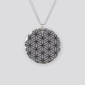 Flower of Life Big Ptn B/LG Necklace Circle Charm