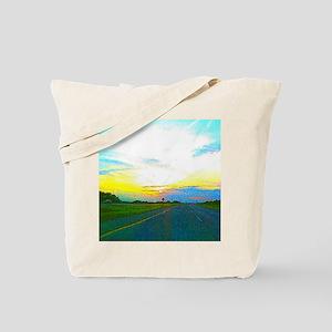 Digital sunset Tote Bag
