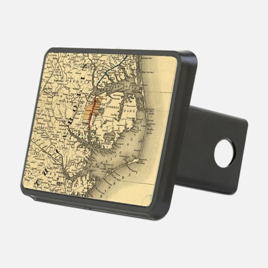 Vintage Map of The North C Hitch Cover
