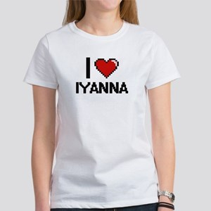 I Love Iyanna Digital Retro Design T-Shirt