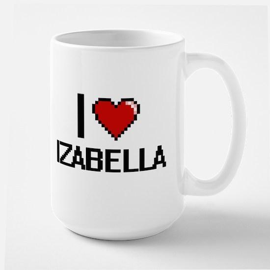 I Love Izabella Digital Retro Design Mugs