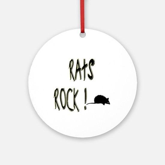 Rats Rock ! Ornament (Round)