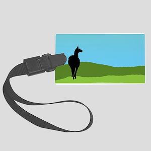 Llama Bue Sky Luggage Tag