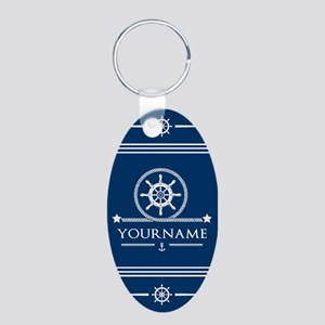 Nautical Rope and Anchor Pe Aluminum Oval Keychain