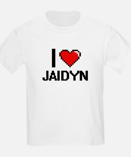 I Love Jaidyn Digital Retro Design T-Shirt