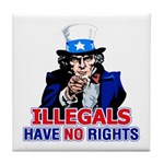 Illegals Have No Rights Tile Coaster