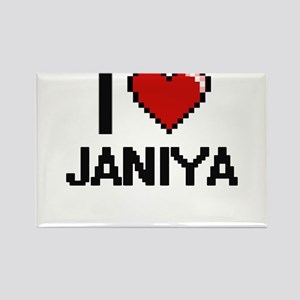 I Love Janiya Digital Retro Design Magnets