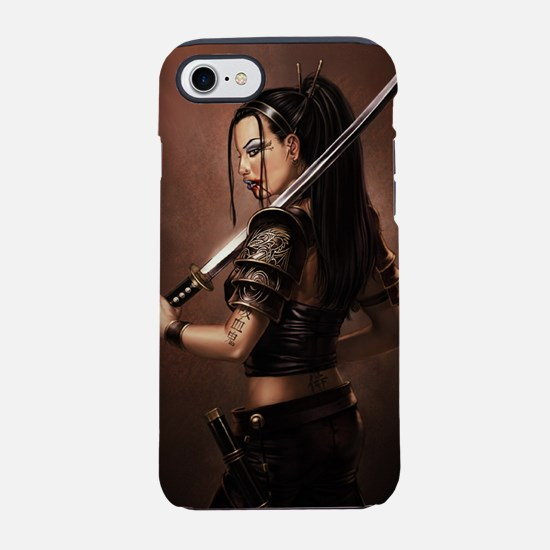 Woman Assassin With Sword iPhone 7 Tough Case