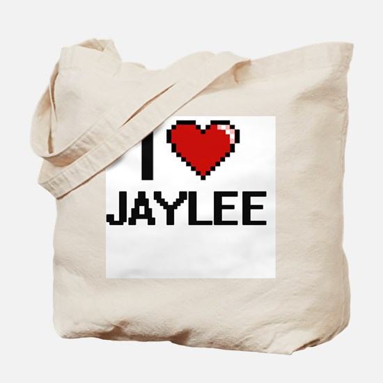 I Love Jaylee Digital Retro Design Tote Bag