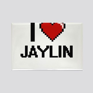 I Love Jaylin Digital Retro Design Magnets