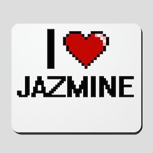 I Love Jazmine Digital Retro Design Mousepad