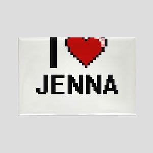 I Love Jenna Digital Retro Design Magnets