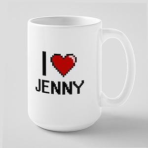 I Love Jenny Digital Retro Design Mugs