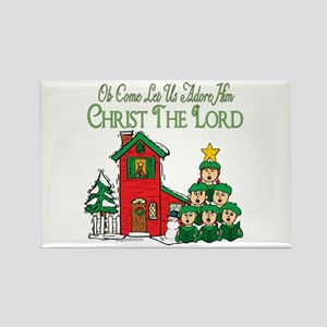 Christmas Carol Series Rectangle Magnet